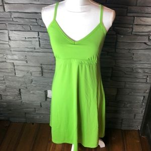 Athleta Lime Green Racer Back Dress M